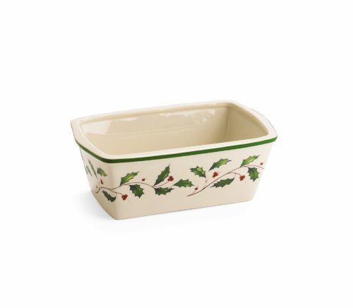 Lenox Holiday Carved Mini Loaf Pan by Lenox -