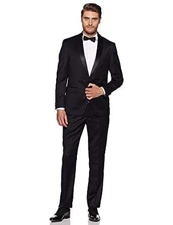 Louis Philippe Men's Regular Fit Suit (8907153633760_LPSU1M00152_92_Black Solid)
