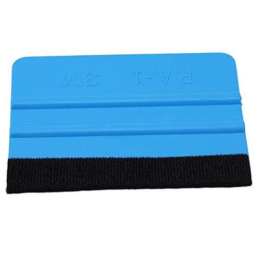 Soft Felt Edge Rakel Board für Auto Vinyl Anwendung Wrap Tool Scraper Aufkleber für Ford Mercedes-Benz BMW Volkswagen Passat Audi Diesel Cabrio ConvertBlau (Farbe: Blau) Board Scraper