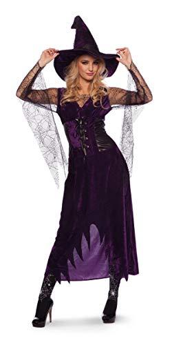 Folat Kostüm Lila Hexe Halloween Fasching Karneval ()