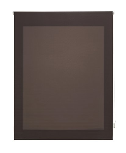 Uniestor Estor Enrollable Liso Traslúcido Tela Gris 160x250 cm