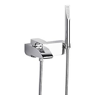 31l8LoFmxTL. SS324  - Roca Thesis - grifo monomando exterior baño y ducha con inversor automático, ducha de mano, flexible de 1,70  . Griferías hidrosanitarias Monomando. Ref. A5A8301C00
