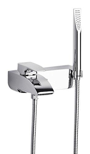Roca Thesis – grifo monomando exterior baño y ducha con inversor automático, ducha de mano, flexible de 1,70  . Griferías hidrosanitarias Monomando. Ref. A5A8301C00
