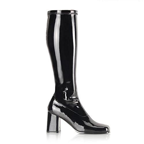 Stiefel Lack schwarz Schwarz