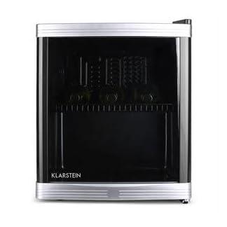 Klarstein-Beerlocker-Minibar-Mini-Khlschrank-Getrnkekhlschrank-46-Liter-Volumen-43x50x48-cm-flsterleise-5-stufiger-Temperaturregler-bis-zu-15-Flaschen-schwarz
