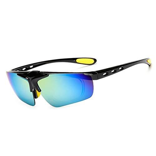 New Flip Sonnenbrille Männer und Frauen Reiten Brille Fahrrad Outdoor-Sportbrillen Myopie Sonnenbrille Brille (Color : 1, UnitCount : 2PCS)