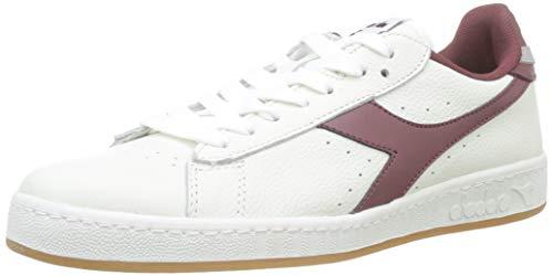 Diadora Game L Low, Sneaker Unisex Adulto, Bianco (BCO/Viola Mattone/Gr Pulviscolo C7917), 42.5 EU