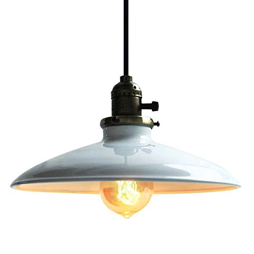 Kitchen lamp shades amazon industrial vintage pendant light shade retro kitchen pendant ceiling lights metal loft bar chandelier ceiling lighting pendant lamp e27 base mozeypictures Gallery