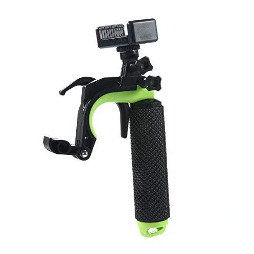 Hamkaw Wasserdichter schwimmender Handgriff für GoPro Kamera 4 Session Black Hero 7/6/5 Handler & Griff Halterung für Wassersport, ausziehbarer Selfie-Stick für Action-Kameras grün -