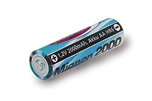 Jamara 141018-Batería 1,2V 2000mAh NiMh Mignon AA HR6 - Batería Recargable de Alto Rendimiento, Ideal para Dispositivos de Flash, Cámaras, Mandos a Distancia, Juguetes, Color Azul 141018