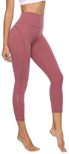 Persit Damen 7/8 Leggings, Sporthose Yogahose Sport Leggins für Damen Yoga Tights Dusty Rose-XS