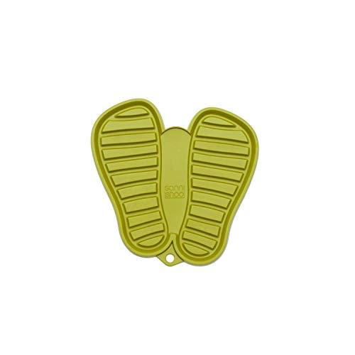 Sanni Shoo, shoo.pad, flexible, waschmaschinen-feste Schuh-Abtropf-Matte, Schuhablage, Schuhabtropfschale, Abtropf- und Schmutzfang-Matte S für Kinderschuhe (bis Schuhgrösse 31), grün