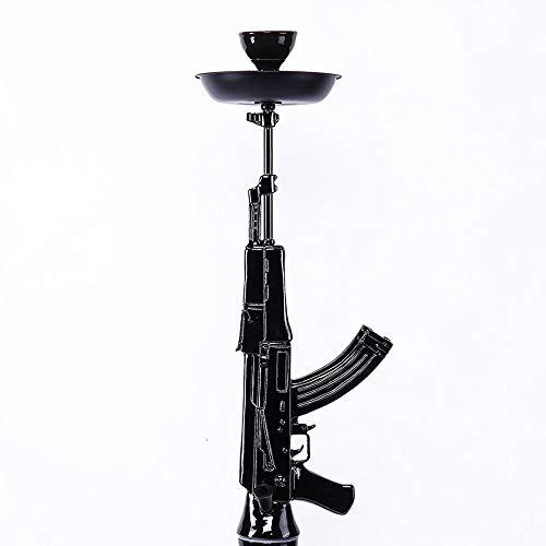 Mkxiaowei Hookah Ak47 Rifle Shisha-Chicha Color: Negro, Tamaño de narguile: 85 cm de cachimba, 4 kg, B