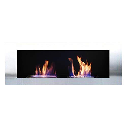Gel + ethanol fireplace / Celin Deluxe / Replaceable stainless steel front-panel / powder coating / German production