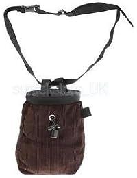 Alcoa Prime Climbing Chalk Bag With Adjustable Waist Belt & Drawstring Closure - Coffee