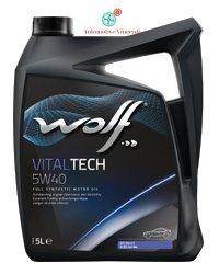Wolf Vitaltech 5W40 Huile moteur 5litres pas cher