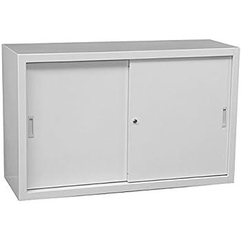 schiebet renschrank schiebet ren aktenschrank sideboard aus stahl grau 750 x 1200 x 450 mm h he. Black Bedroom Furniture Sets. Home Design Ideas