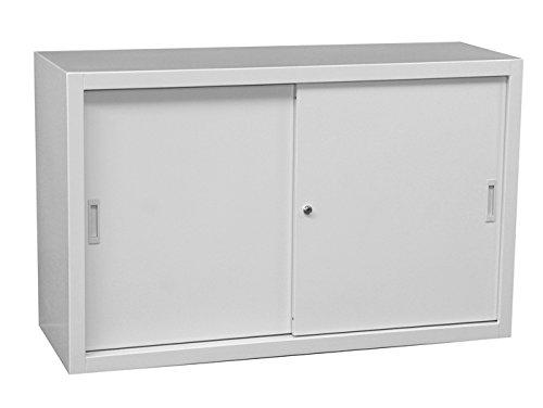 Schiebetürenschrank Schiebetüren Aktenschrank Sideboard aus Stahl grau 750 x 1200 ...