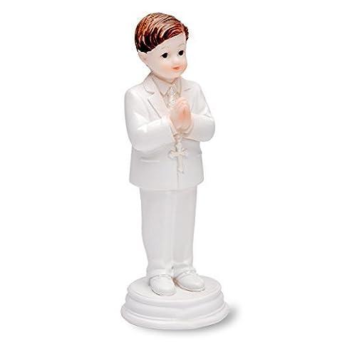 CLUB GREEN Resin Praying Boy Standing, White, 102 mm, Pack