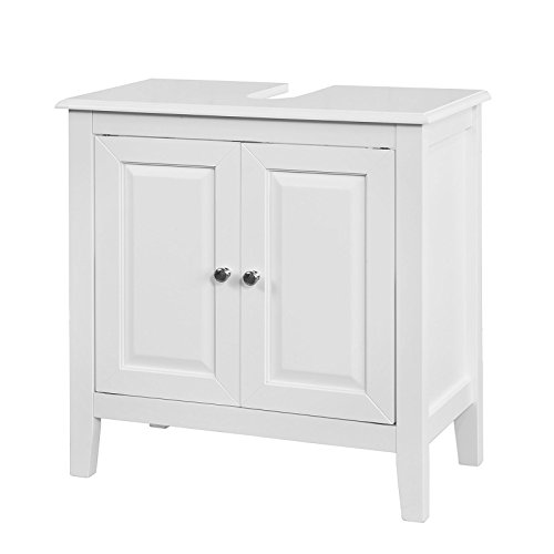 SoBuy FRG202-W Waschbeckenunterschrank Badmöbel Badschrank Waschtisch Unterschrank weiß BHT ca: 60x62x30cm
