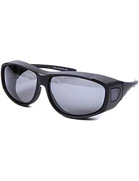 Gafas de sol para colocar sobre gafas graduadas grandes, lentes de protección UV400, anti deslumbramiento, para...