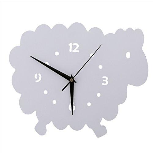 Mouton Horloge murale Chambre d'enfant Chambre Horloge silencieuse Belle Famille Décoration Boutique