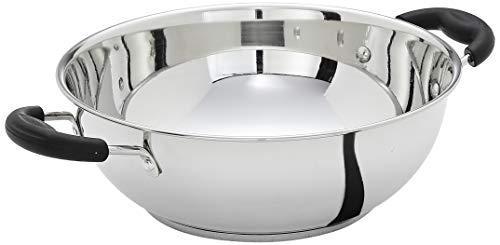 Amazon Brand - Solimo Stainless Steel Induction Bottom Kadhai (25cm,...