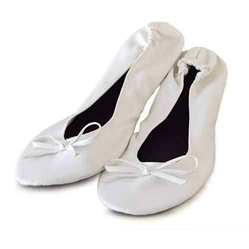 Mopec Bailarinas Blancas simil Piel con Bolsa Talla M, Pack de 2 Unidades, Textil, 6.00x8.00x14.00 cm...