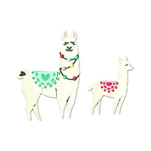 Sizzix Thinlits Stanzformen Set 11PK Lama & Baby Lama