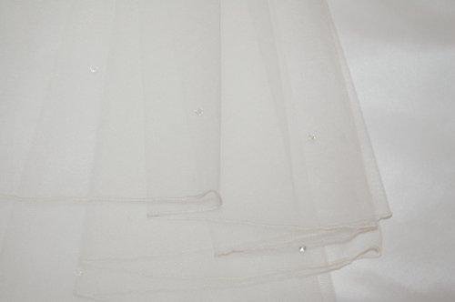 Brautschleier, 2-lagig mit Swarovski-Elements, ivory, 40/60 cm
