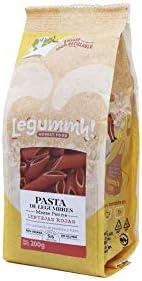 Pasta de legumbres, Lentejas Rojas. 200g - Mezze Penne (Pack 3 Bolsas)