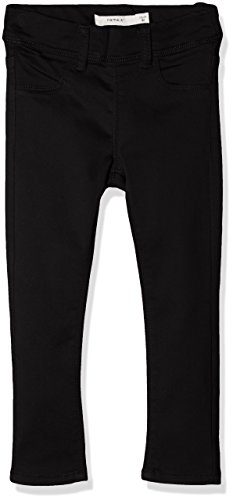 NAME IT Mädchen Hose Nittinna Skinny Twi Legging F Mini Noos, Schwarz (Black Black), 80 (Baby-mädchen-leggings Schwarz)
