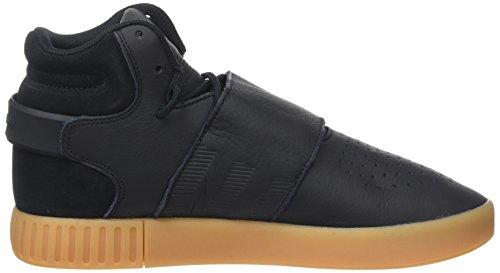 adidas Herren Tubular Invader Strap Hohe Sneaker Schwarz (Core Black/gum/footwear White)