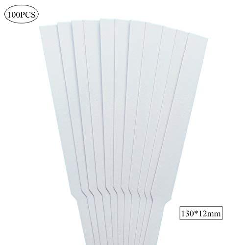 Bandes de papier de test de parfum de 100pcs 130 x 12 mm pour tester les huiles essentielles de parfum Aromatherapy