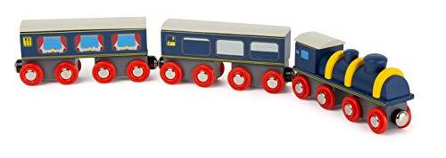 small foot 11236 Bahnhof-Set aus Holz, FSC 100%-Zertifiziert, Eisenbahn-Zubehör mit Magnetfunktion Spielzeug, Mehrfarbig (Holz-bahnhof)