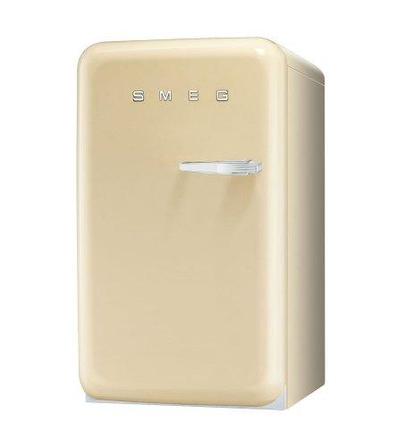 Smeg FAB10LP Standkühlschrank mit Gefrierfach / Linksanschlag / Kühlteil 101 Liter / Gefrierfach**** 13 Liter / crème