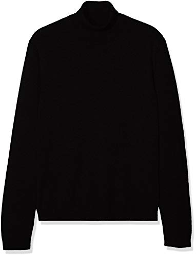 d4cf65a2c9c find. Cotton Roll Neck suéter, Negro (Black), 50 (Talla del Fabricante:  Medium)