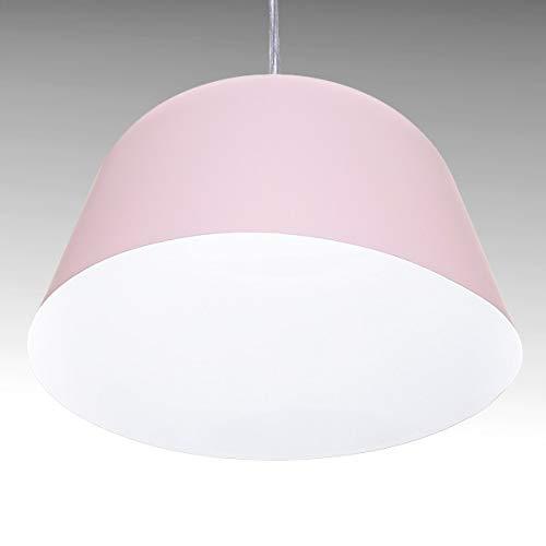 Greenice | Lámpara Suspendida Aluminio Ø 250Mm (Sin Bombilla) Rosa Presley | Sin Bombilla
