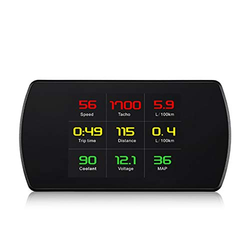 rt Digital Meter Speed Voltage RPM HD Heads Up Display Car Vehicle HUD ()