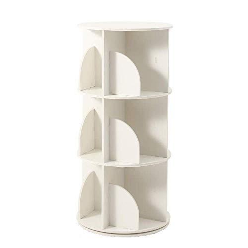 Chooseator Kombination Vertikales Bücherregal, Drehregal Einfacher Boden Eck-Bücherregal, Leicht zu verstauen, platzsparend -