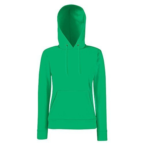 Fruit of the Loom - Lady-Fit Hooded Sweat M,Kelly Green Hooded Damen-pullover