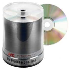 JVC-Taiyo Yuden DVD+R 120 min/4.7 Go 16x, Non imprimé, 100 pièces en cloche
