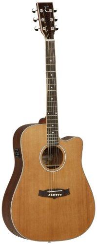 Tanglewood TW28CSNCE - Guitarra acústica, acabado natural satinado