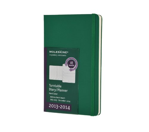 Moleskine Large 18 2014 Weekly Turntable Notebook - Green por Moleskine