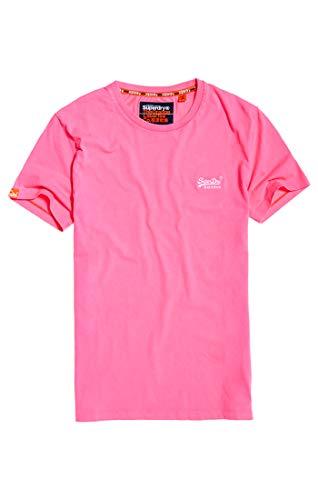 Superdry Herren ORANGE Label NEON Tee T-Shirt, Bright Blast Pink ZH9, XL