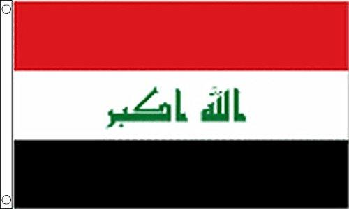 3Ft x 2Ft Flag L'Irak (Nouveau) Petit Drapeau