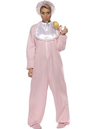 Fancy Ole - Damen Frauen Frauen Baby Strampler Kostüm mit Vlies-Bodysuit, Mütze und Schlabberlätzchen, perfekt für Karneval, Fasching und Fastnacht, One Size, Rosa