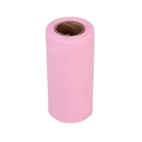 Demarkt Tüllstoff Tülldekostoff für Kleidung Deko Hochzeit Party 22m x 15cm Rosa