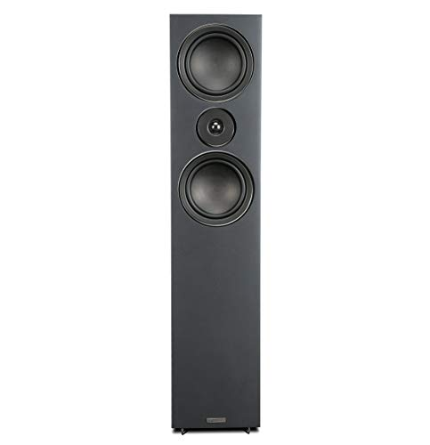 "Mission LX-3 Dual 5"" Woofer 100W 2-Way Floor-Standing Speaker - Black Wood (Each, Single Unit)"