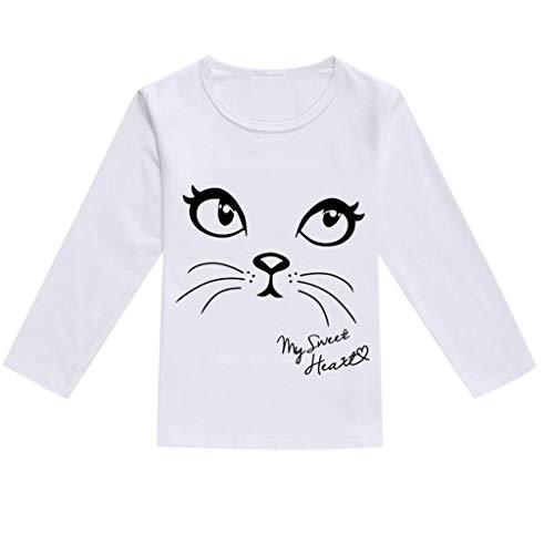 JUTOO Kleinkind Baby Kinder Jungen Mädchen Frühling Niedlichen Cartoon Print Tops T-Shirt Lässige Kleidung (Schwarz,90)